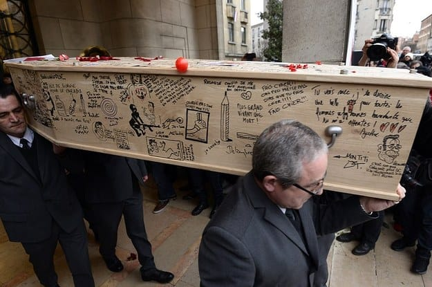 cartoonist funeral